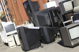 CRTs awaiting recycling / lopolo, Shutterstock