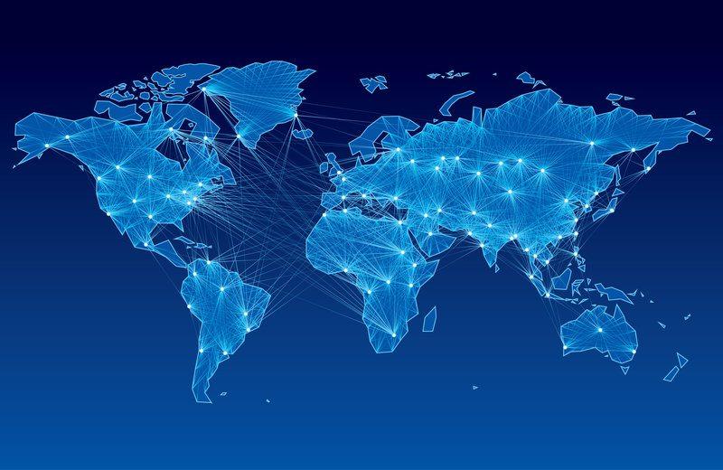 World Map Lights / polygraphus, Shutterstock