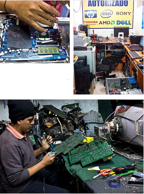 Electronics reuse and recycling in Peru, a photographic