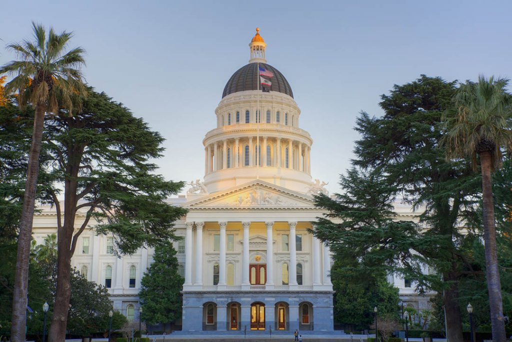 California's capitol building in Sacramento.