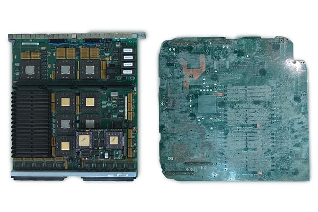 All Green Recycling - PCB before and after