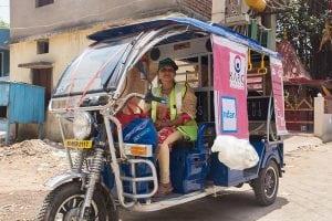 Reema, e-scrap picker in India