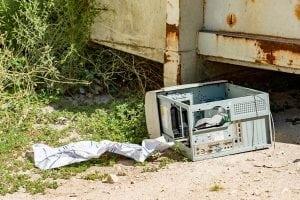 abandoned e-scrap