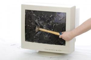 smashed monitor