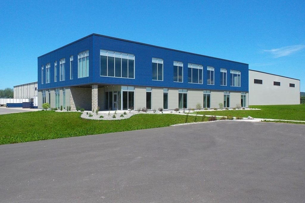 Exterior of Dynamic's new facility.