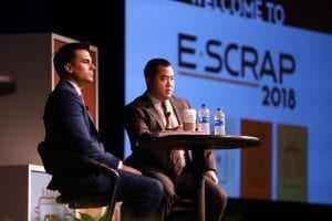 Presenters on stage at the 2018 E-Scrap Conference.
