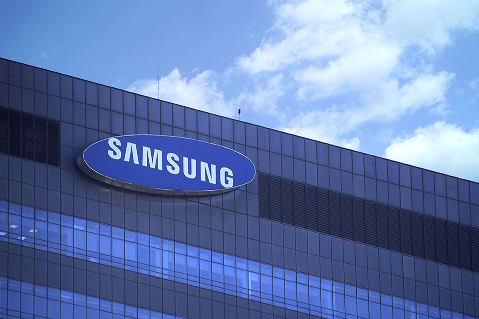Exterior of Samsung office building.