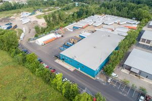 Aerial view of Schupan's electronics recycling facility.