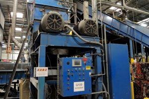 Shredding equipment from the shuttered ECS facility.