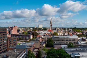 Aerial view of Breda, Netherlands.