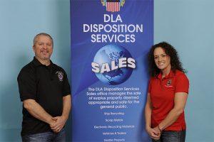DLA Disposition Services staff Todd Kolesky and Jennifer Ganka.
