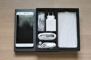 A new cellphone in packaging.
