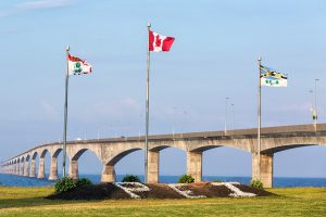 View from the Prince Edward Island side of bridge.
