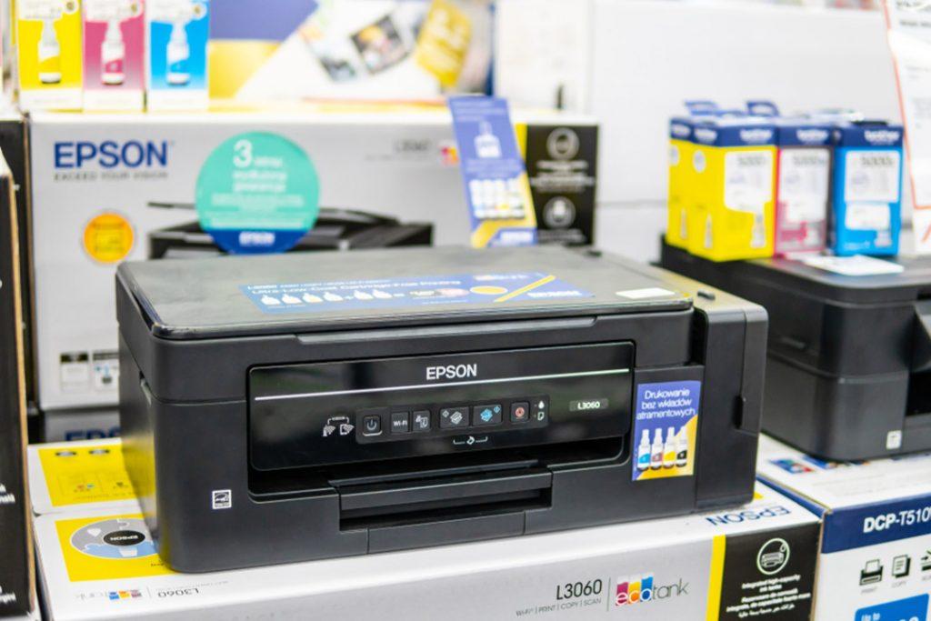 Epson printer in store.