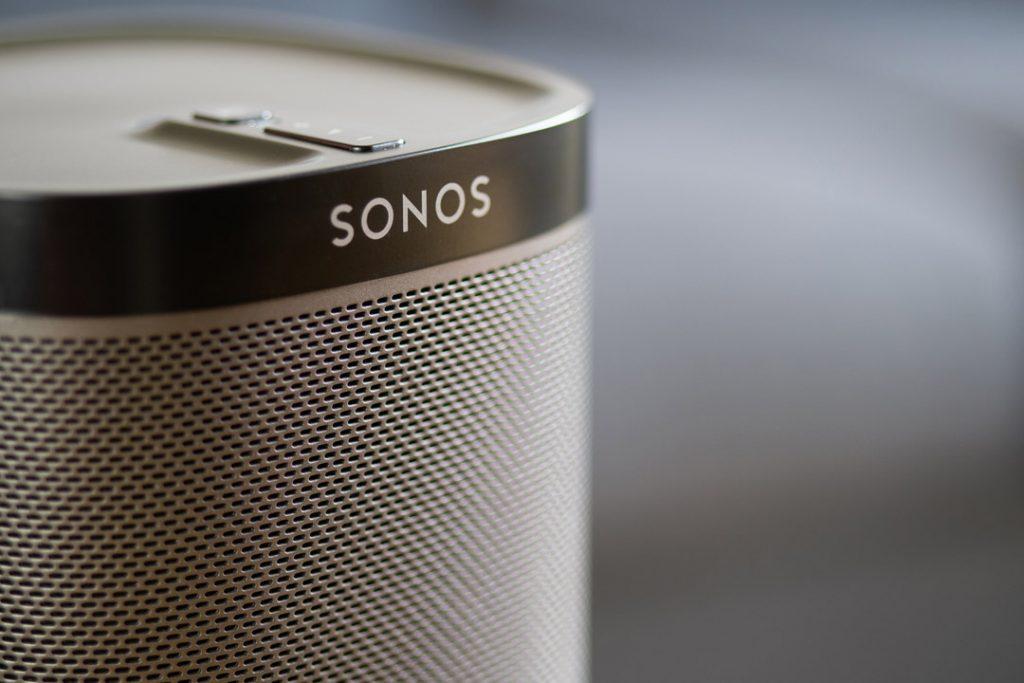 Black Sonos speaker.