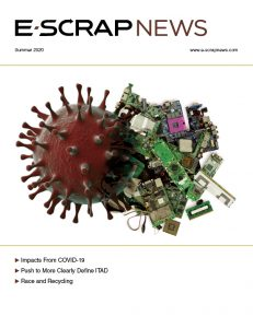 Cover of the Summer 2020 edition of E-Scrap News magazine.