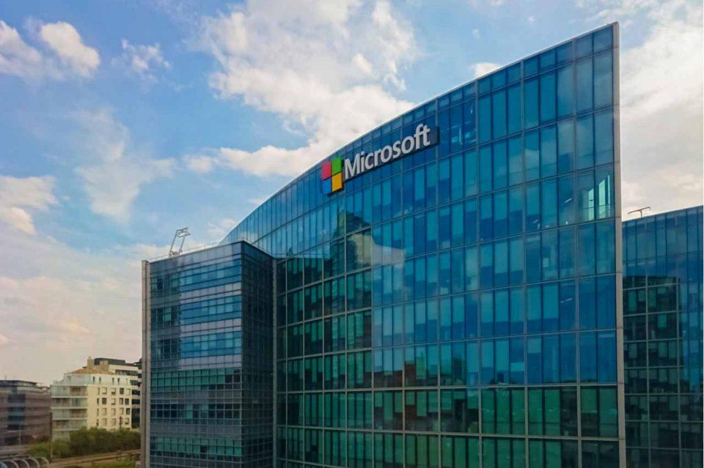 Microsoft company building exterior.