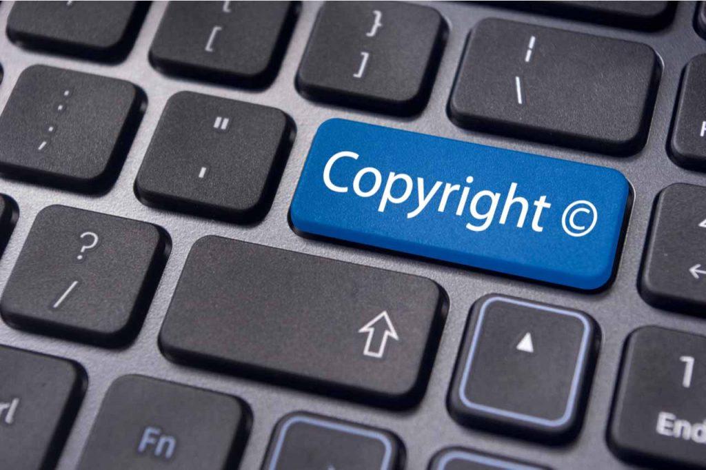 Copyright key on a keyboard.