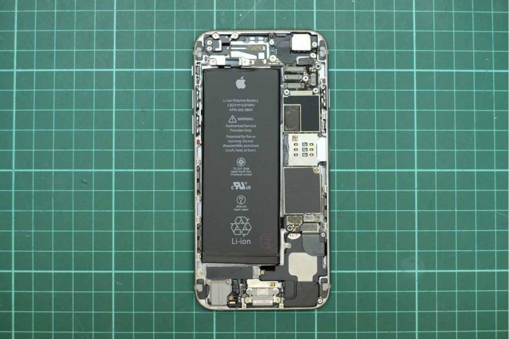 iPhone opened for repair.