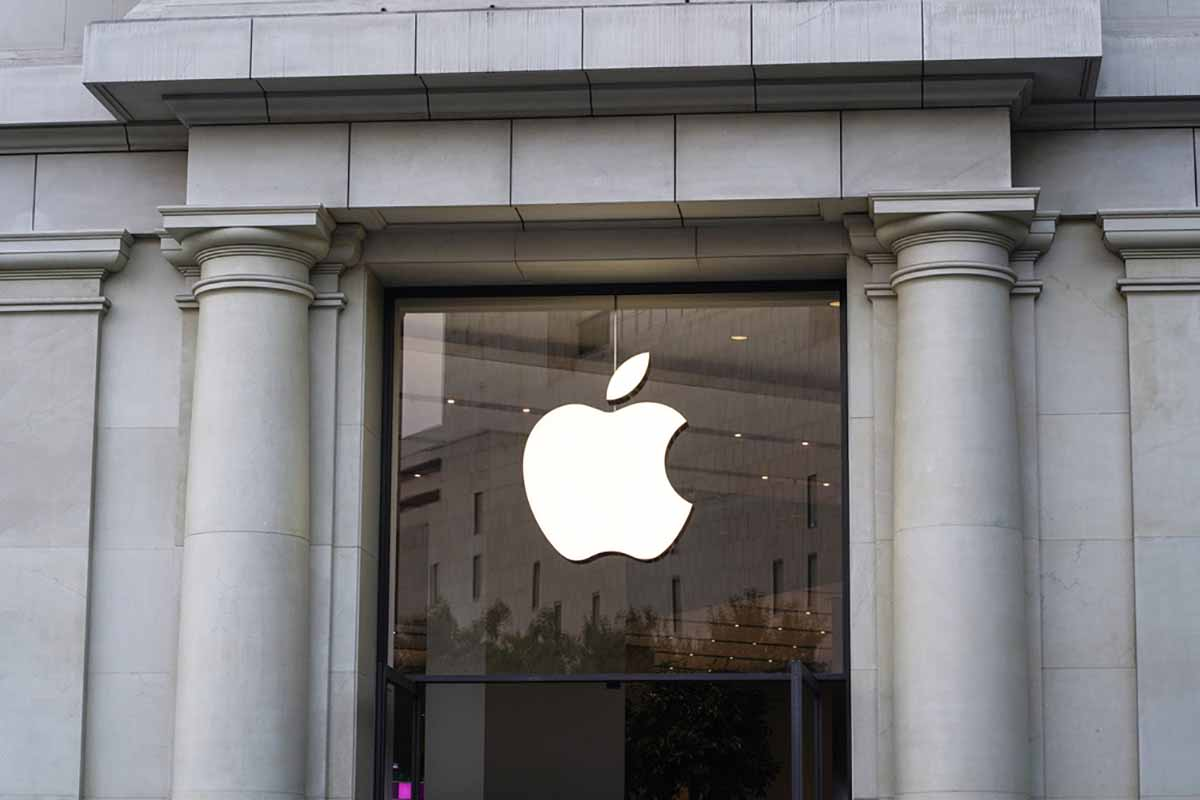 Exterior of an Apple store.