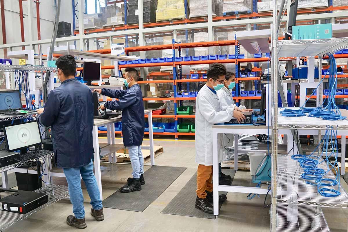 Employees at Ingram Micro facility.