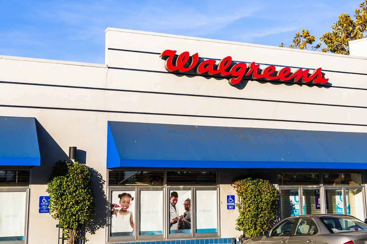 Walgreens store exterior in California.