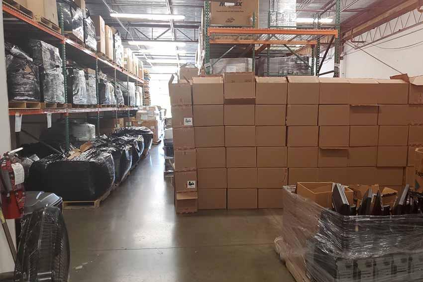 Inside the VAR warehouse.