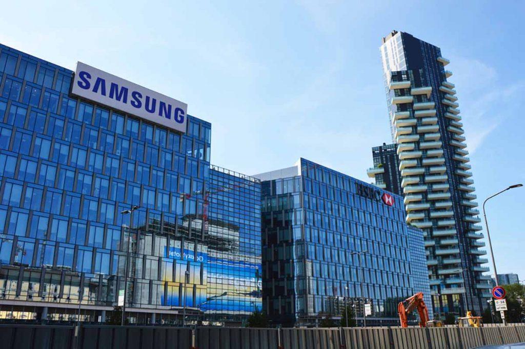 Samsung corporate building in Milan, Italy.