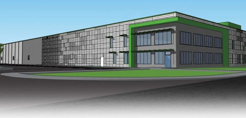 Architect rendering of the upcoming RecycleForce facility.