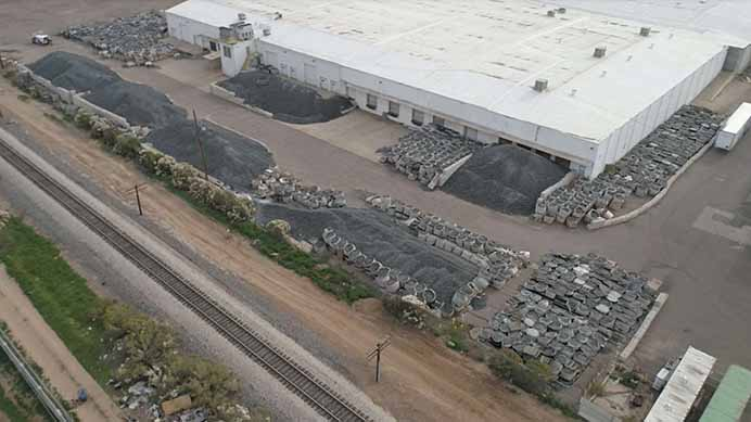 Closed Loop Arizona site from drone.