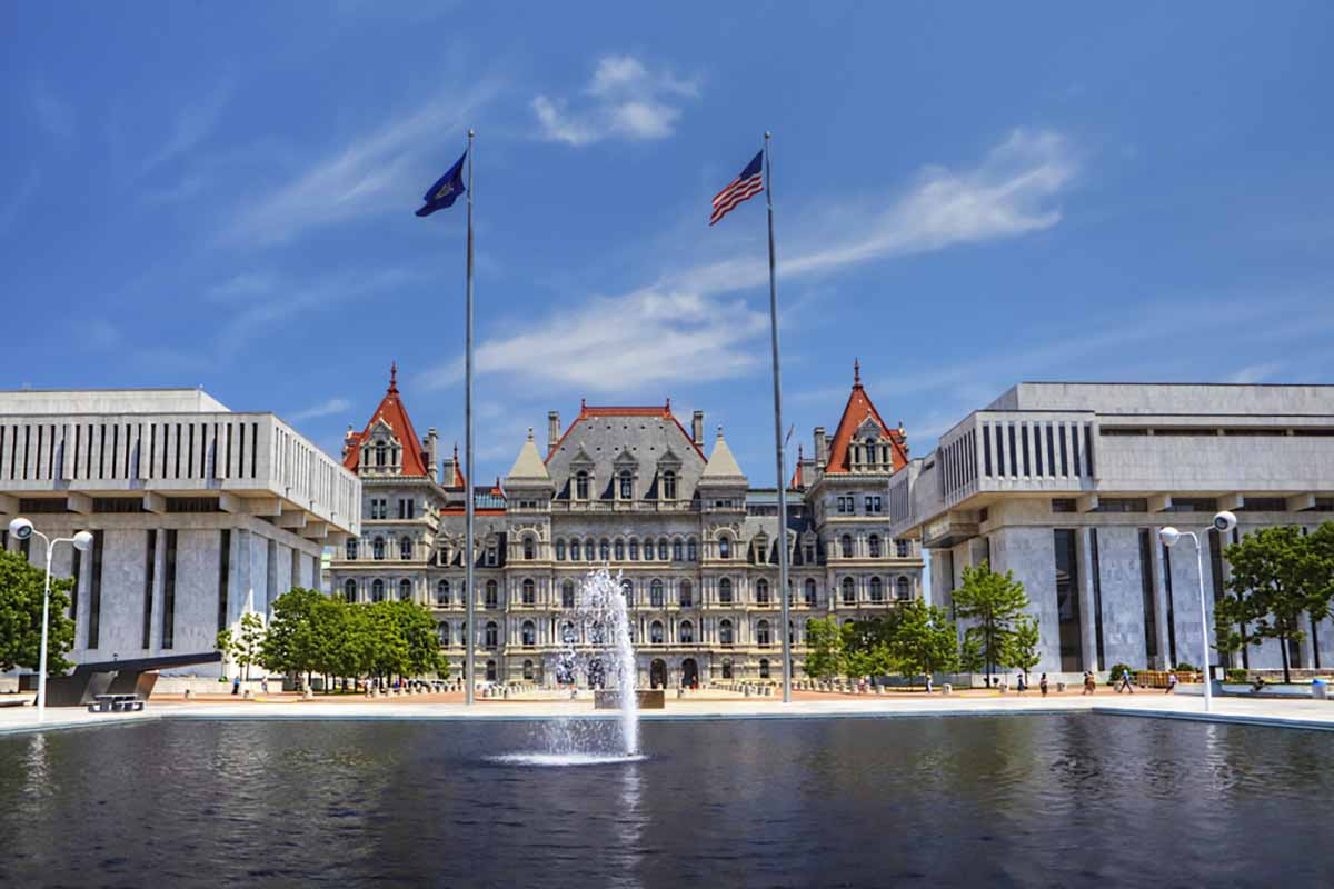 New York capitol building in Albany.