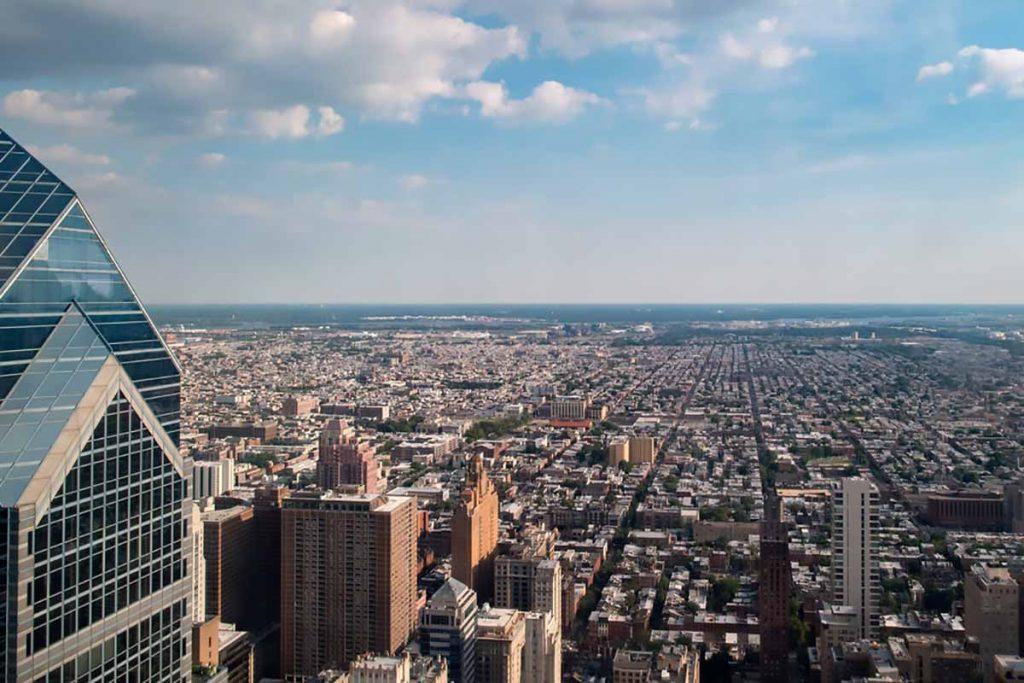 Aerial view of Philadelphia.