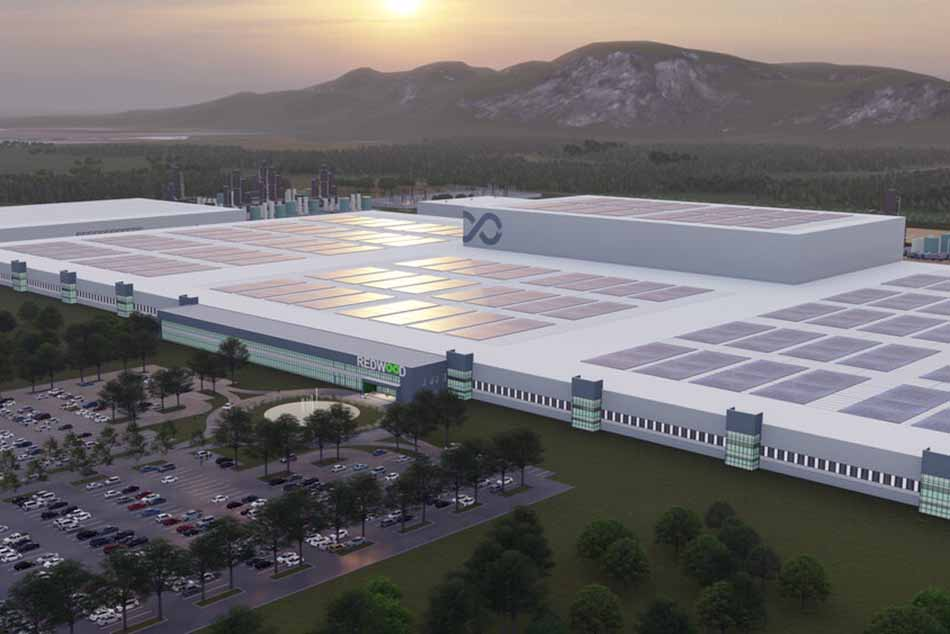 Rendering of Redwood Materials facility.