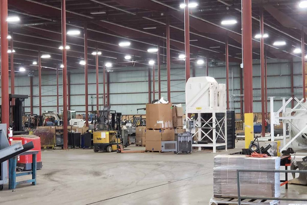 Inside Technology Recyclers' new facility in Indianapolis.