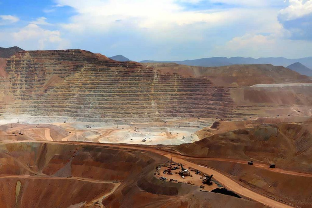 Open pit copper mine in Arizona.