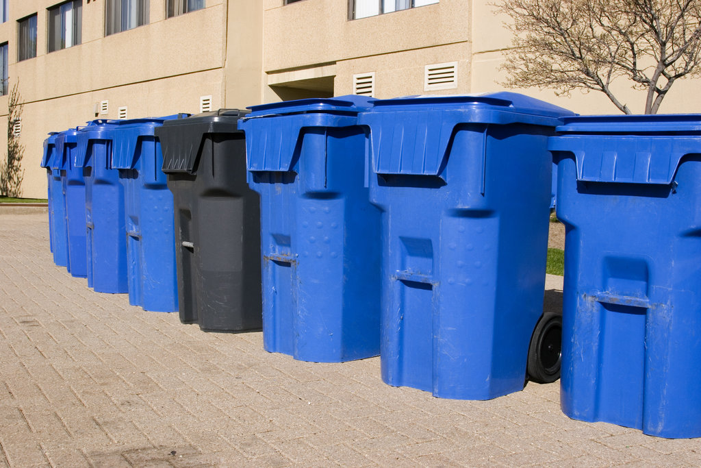 Apartment Recycling Bins / Wally_Stemberger, Shutterstock