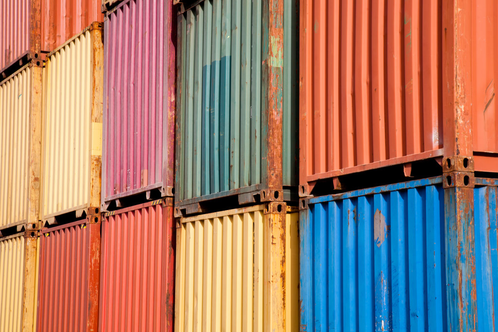 Containers Close Up / qingqing, Shutterstock