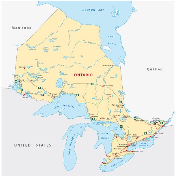 Ontario Map / Rainer_Lesniewski, Shutterstock