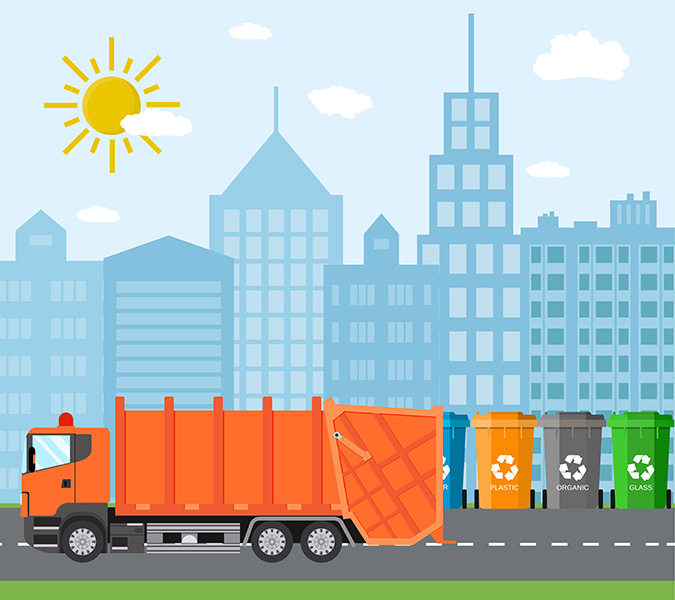 cityscape recycling / DRogatnev, Shutterstock