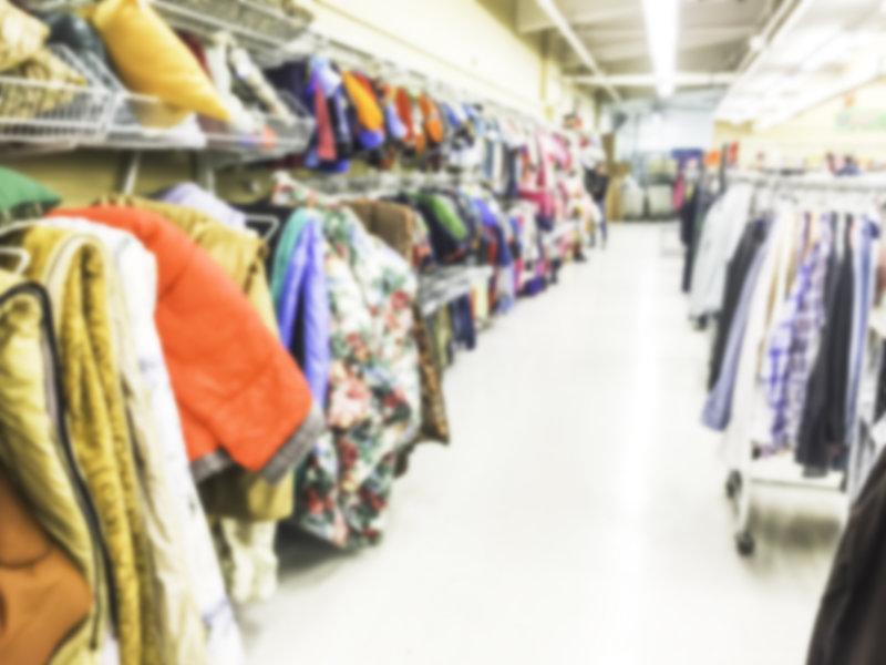 inside thrift store / Checubus, Shutterstock
