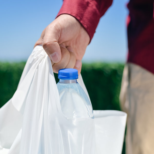 plastic grocery bag / Aquarimage, Shutterstock