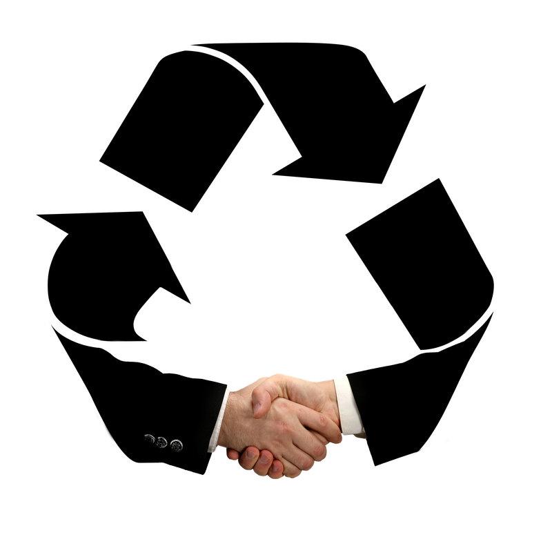 recycling handshake / emin_kuliyev, Shutterstock