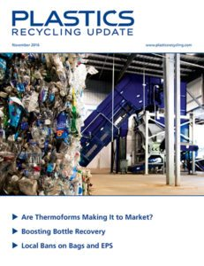 Plastics Recycling Update, Nov. 2016