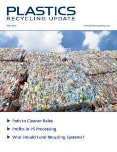 May 2016 Plastics Recycling Update cover