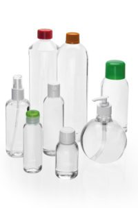 recycled content plastic bottles