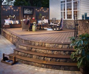 Trex recycled plastic decking product