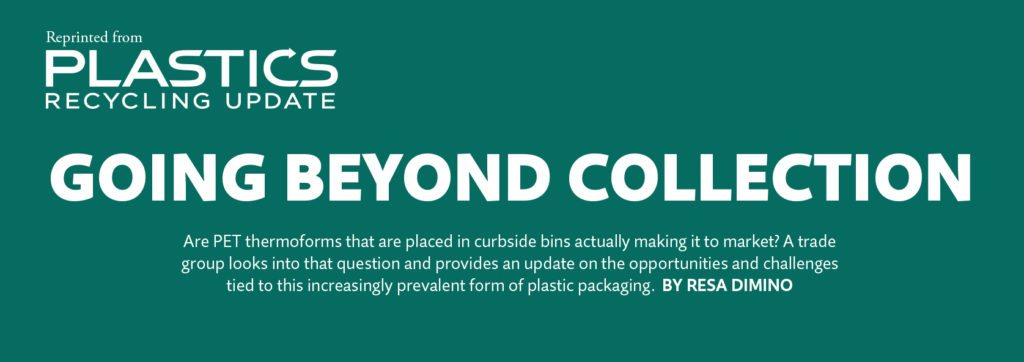 Going beyond collection, Nov. 2016 Plastics Recycling Update