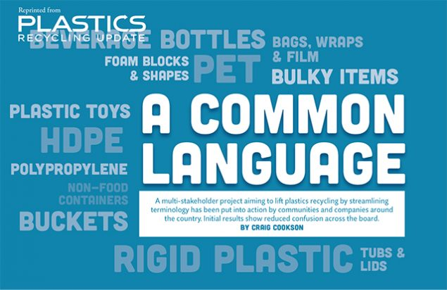 A Common Language Plastics Recycling Update