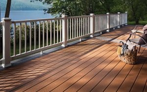 Trex recycled content deck product.