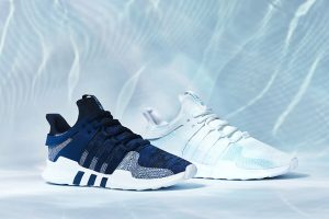 Adidas shoes from ocean plastics